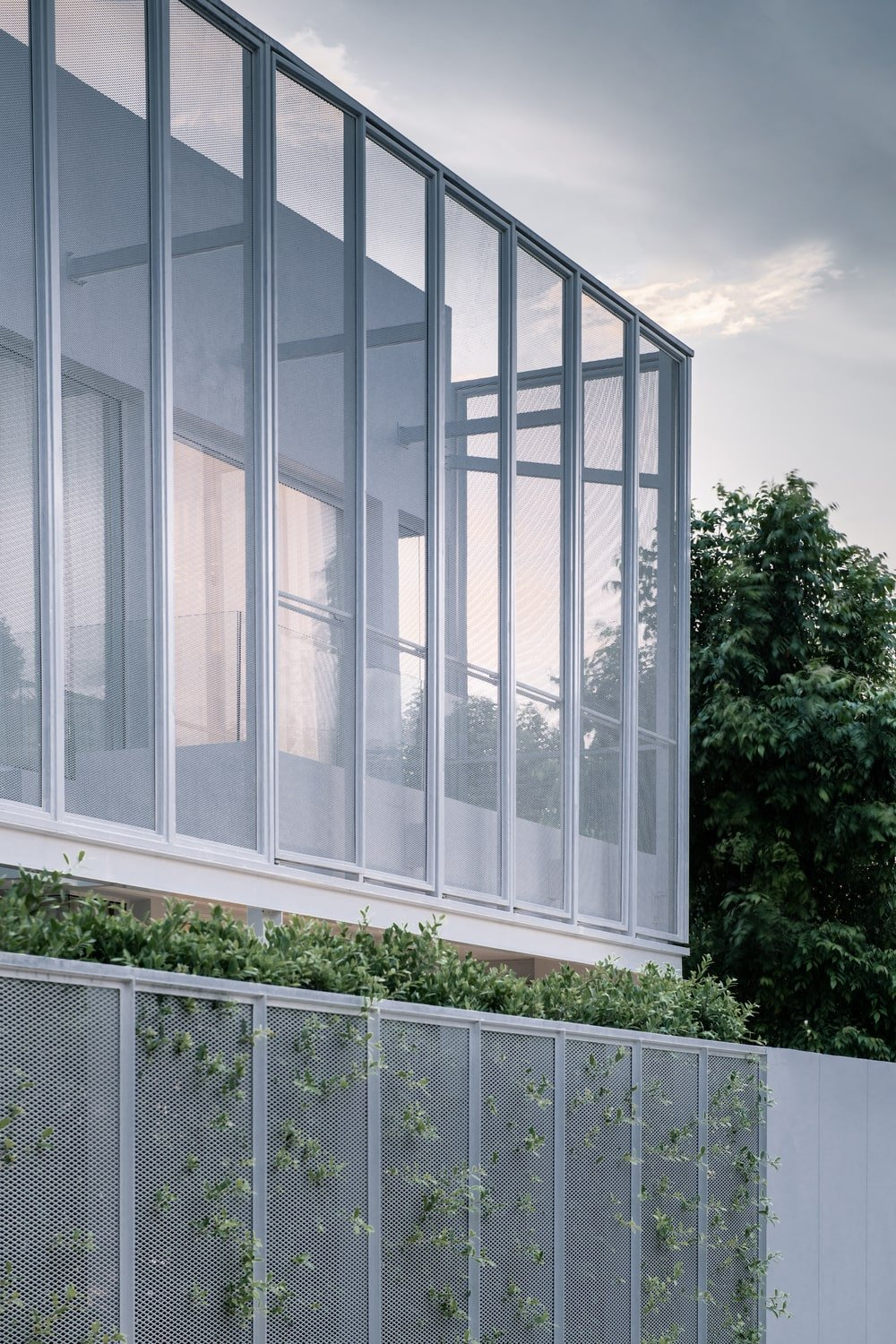 You can also see through the panels that the main structure inside has a large glass wall.