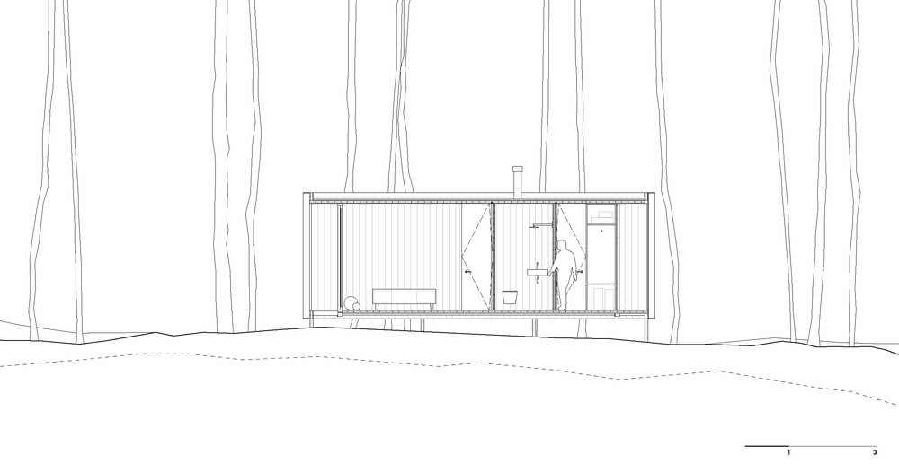 This is an illustrated representation of the house elevation.