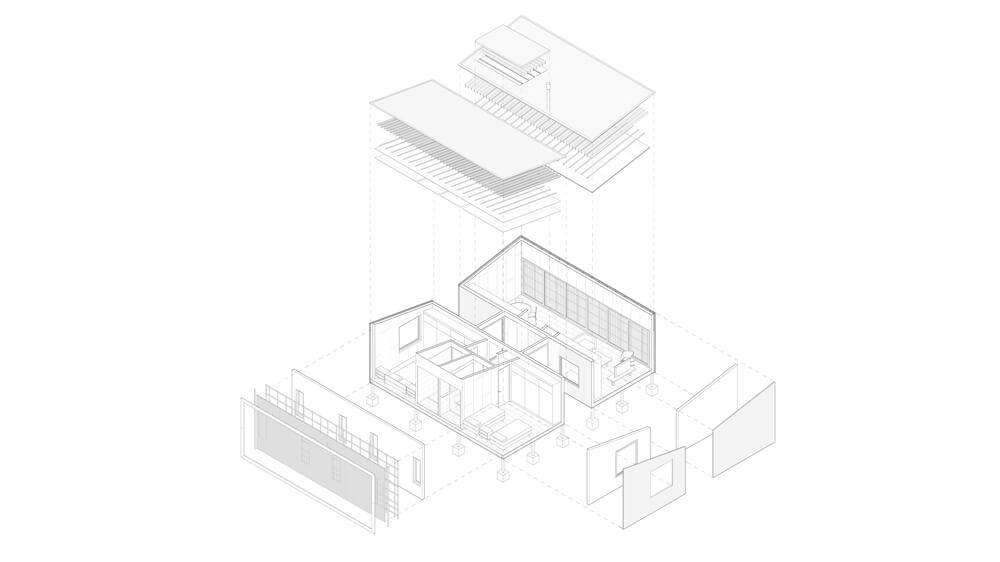 This is an illustration of the house diagram and design showcasing the sections of the house.