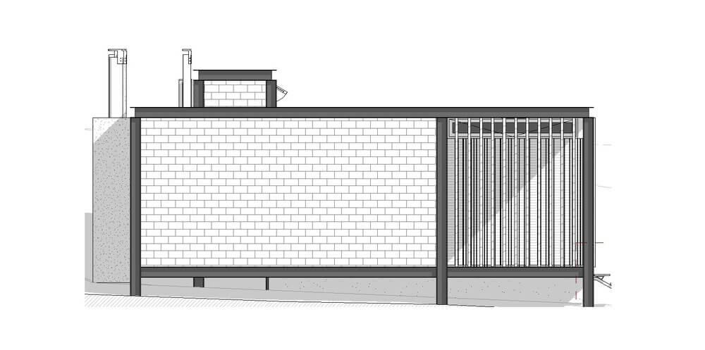 This is an illustration of the Eastern elevation.