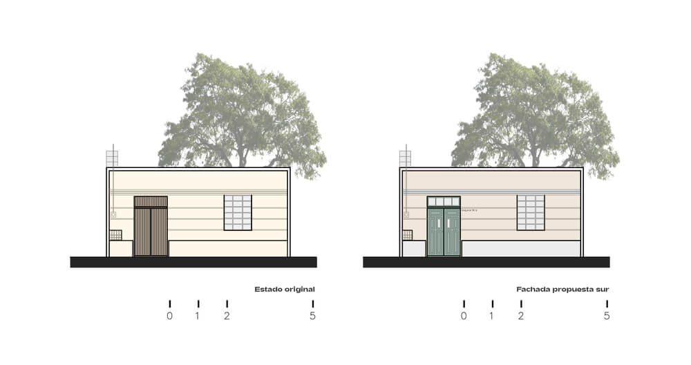 This is an illustrative representation of the elevation and renovation.