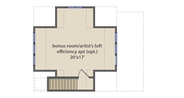 Bonus room over the detached garage floor plan