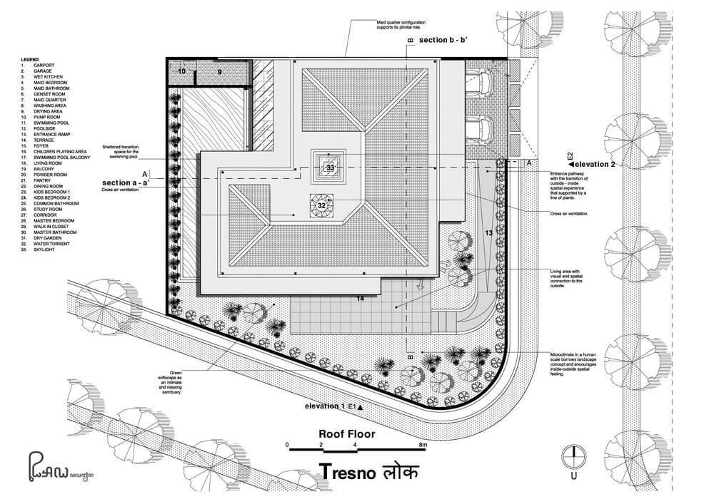 This is the illustration of the thrid level floor plan of the house.