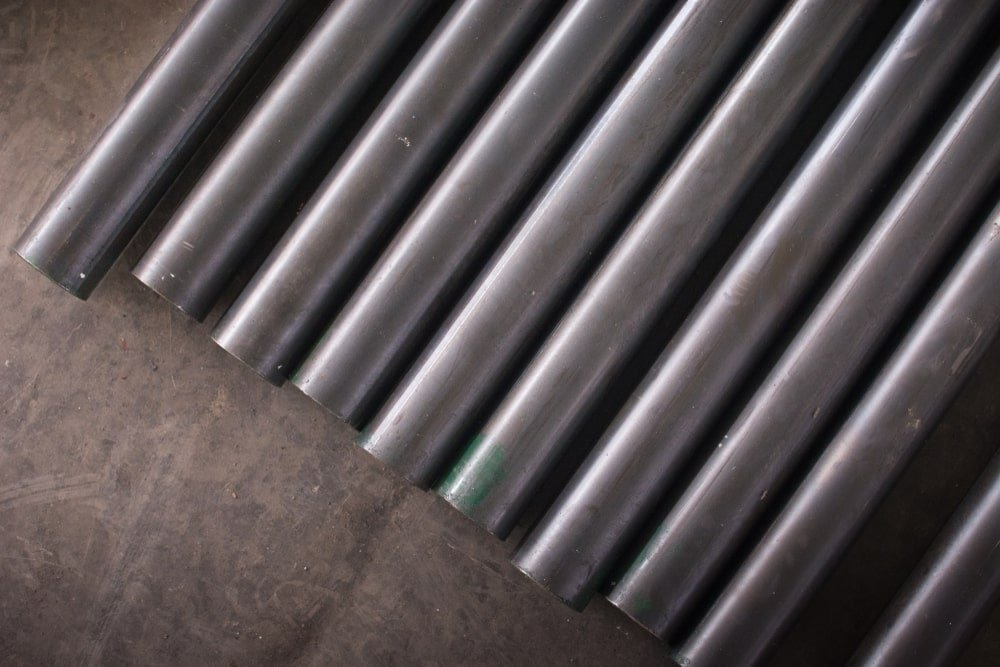 A close look at mild steel pipes.