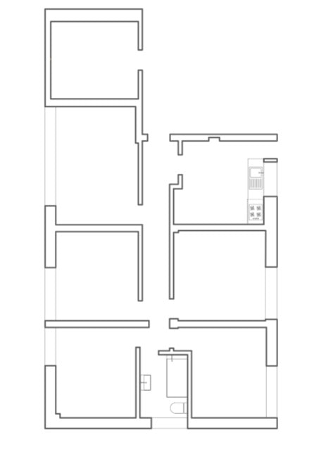 This is an illustration of the floor plan before renovation.
