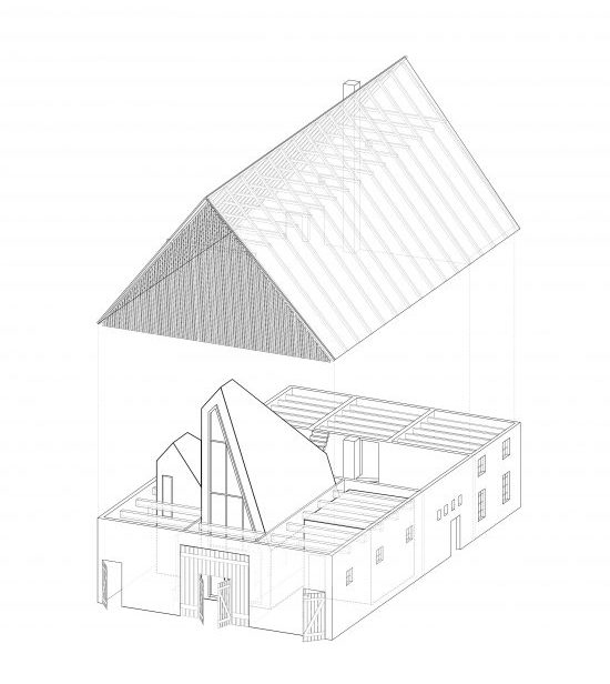 This is an illustration of the house's parts and components as well as construction.