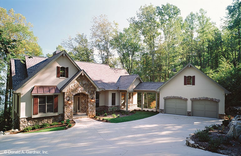 Two-Story 3-Bedroom The Sable Ridge Mountain Retreat Home with Angled Garage