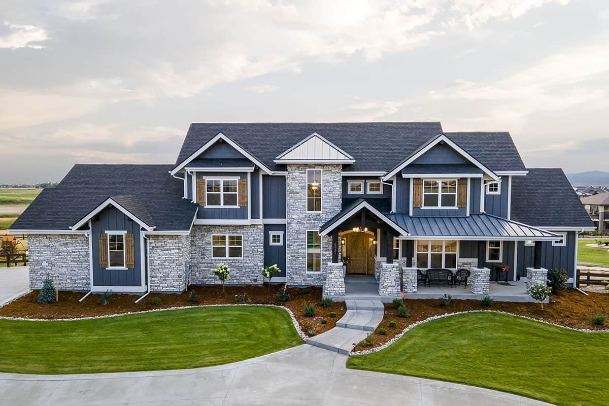 Two-Story 4-Bedroom New American Mountain Home with Open Concept Living and a Loft