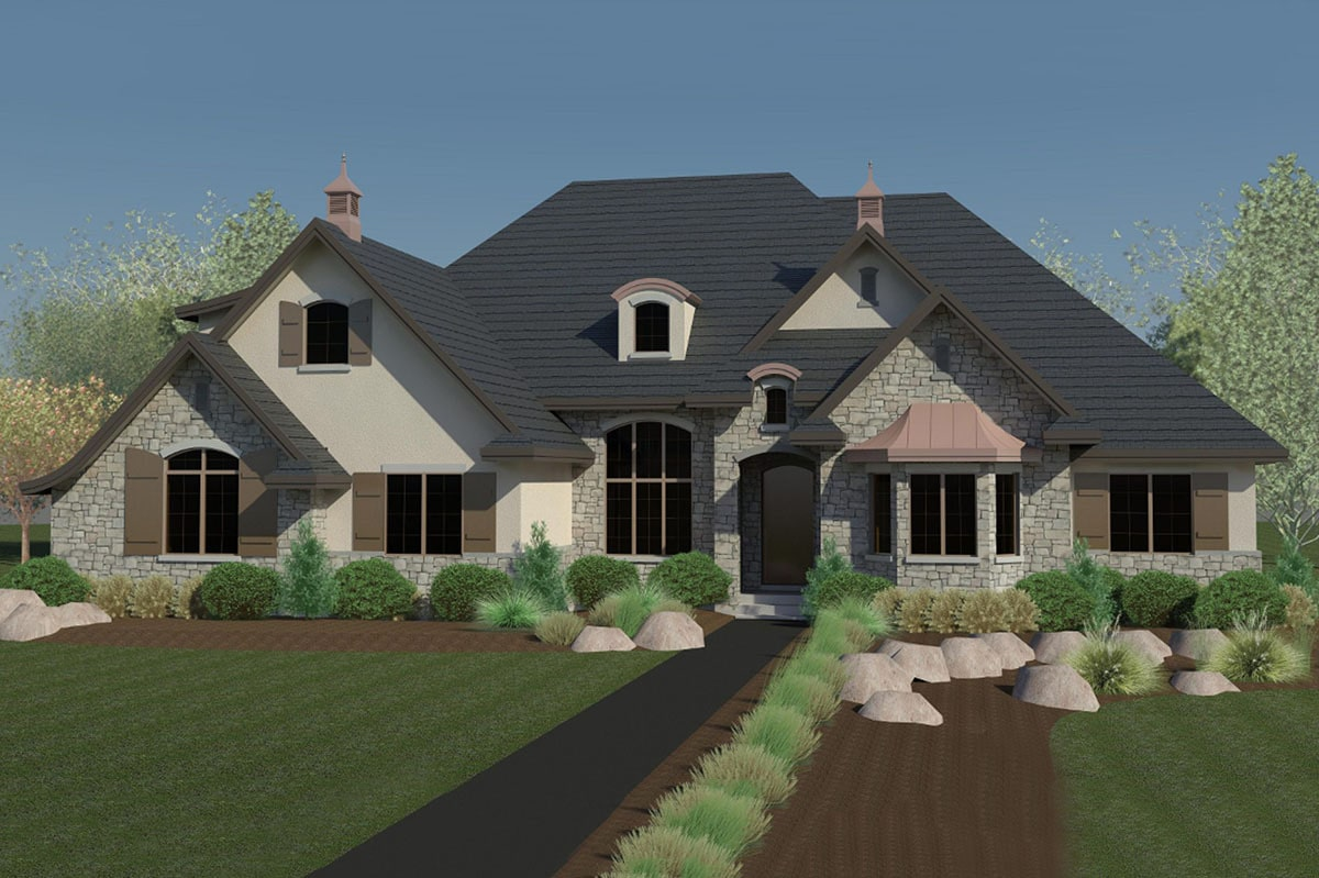 Two-Story 6-Bedroom Craftsman Home with Three-Car Garage
