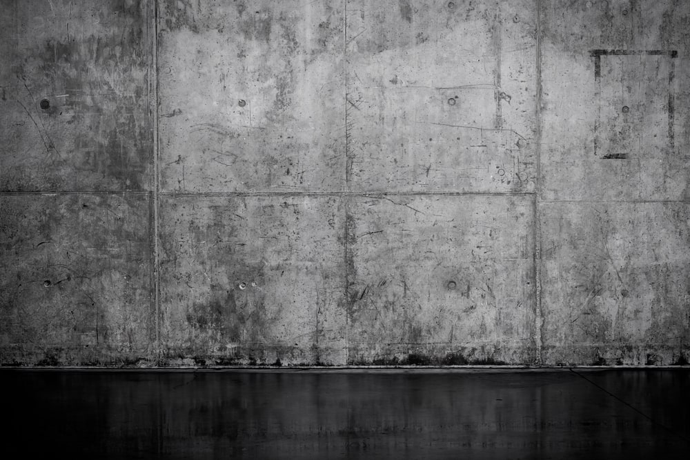 Bare, concrete wall