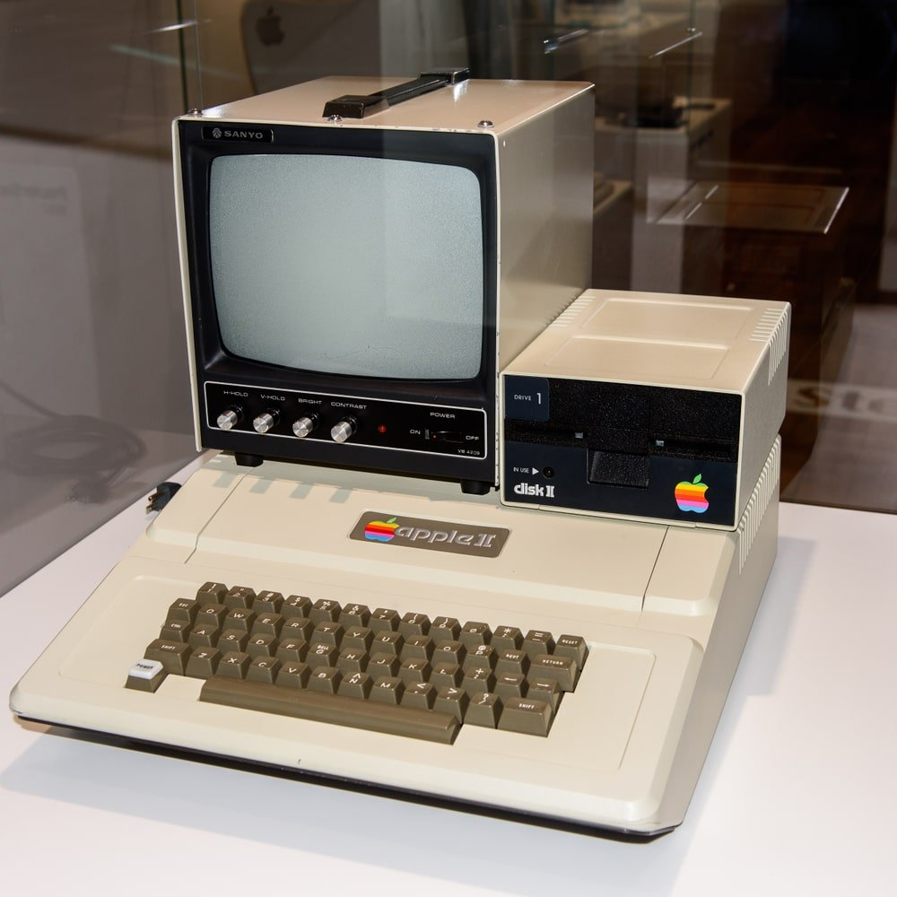 The Apple 2 Computer at an Apple museum.