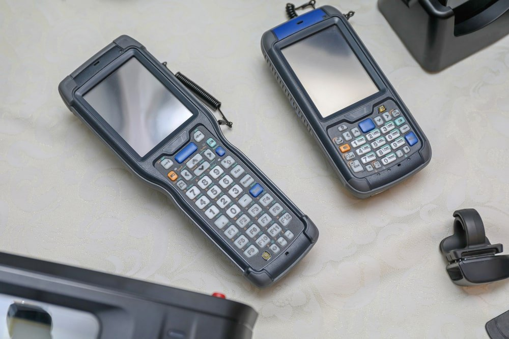 A close look at a couple of handheld computers.
