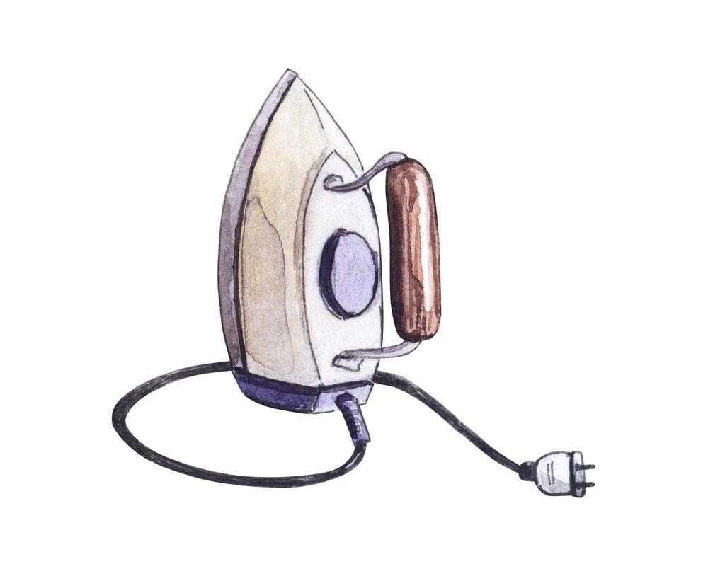 Hand-drawn vintage iron