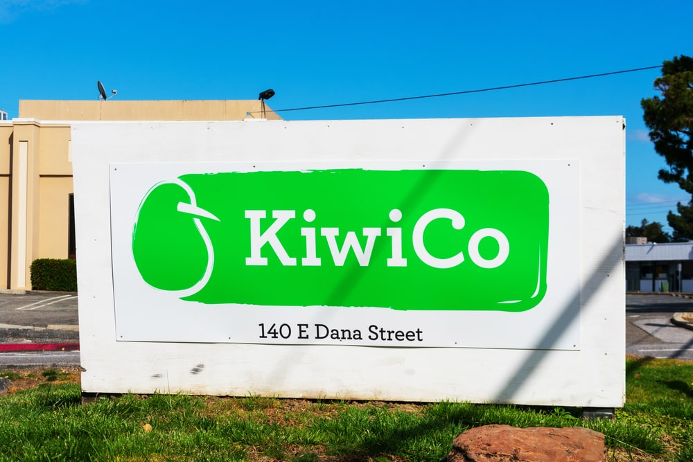 A close look at the KiwiCo Signpost outside their main office.