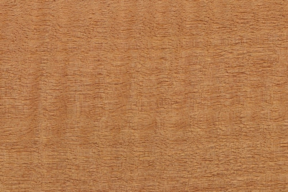 A close look at the anigre wood grains.