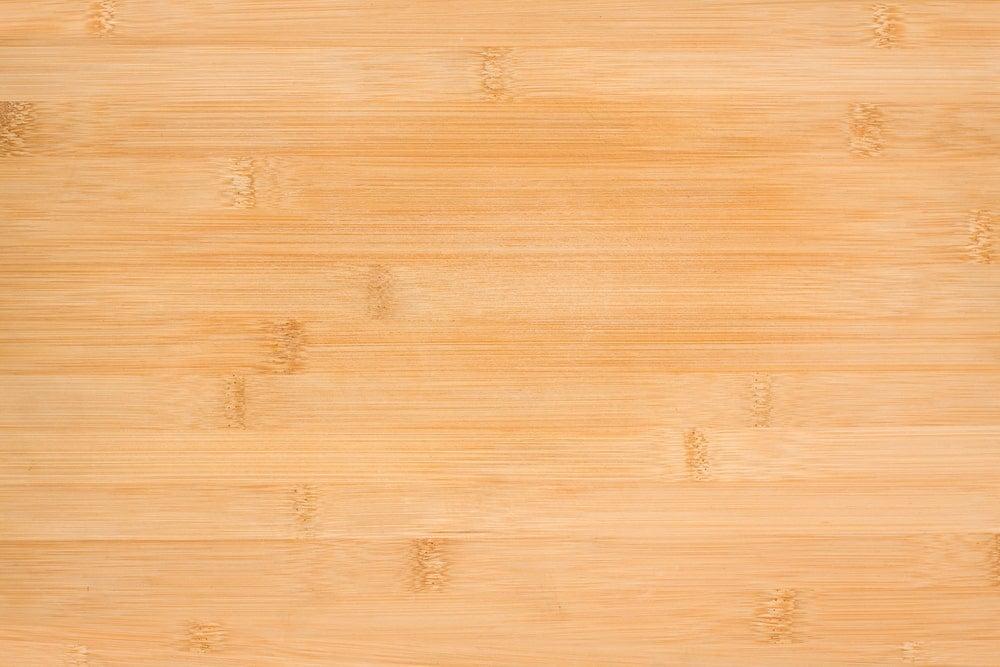 A close look at the bamboo wood grains.