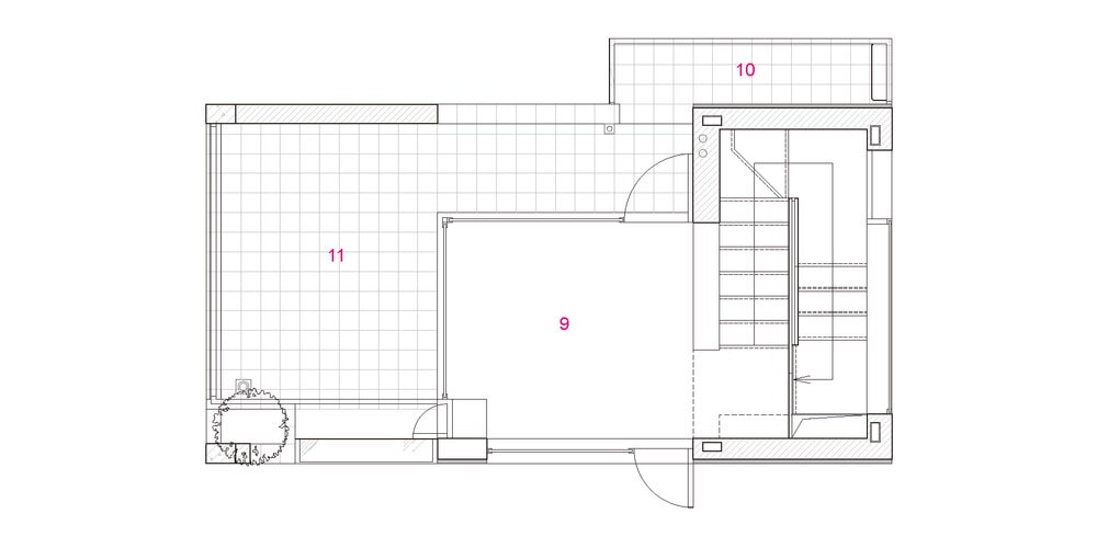 This is an illustration of the fourth level floor plan.