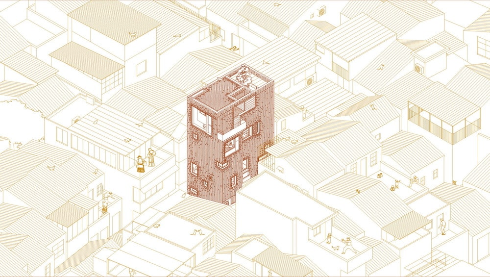 This is an illustration of the east and north axonometric diagram of the house.