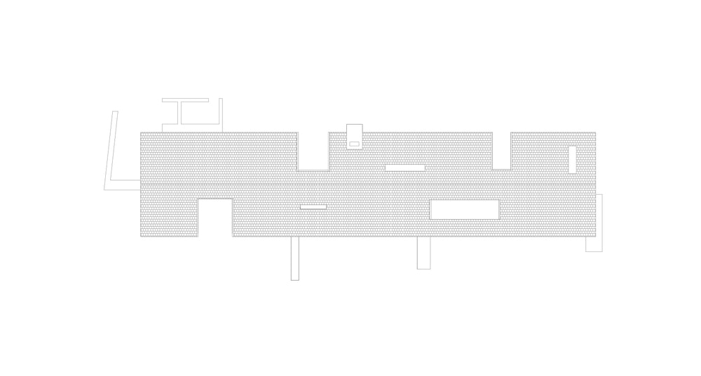 This is an illustration of the house roof viewed from the top.