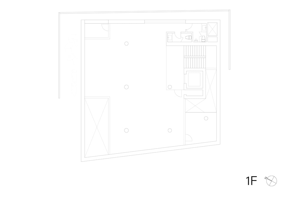 This is the illustration of the first level floor plan.