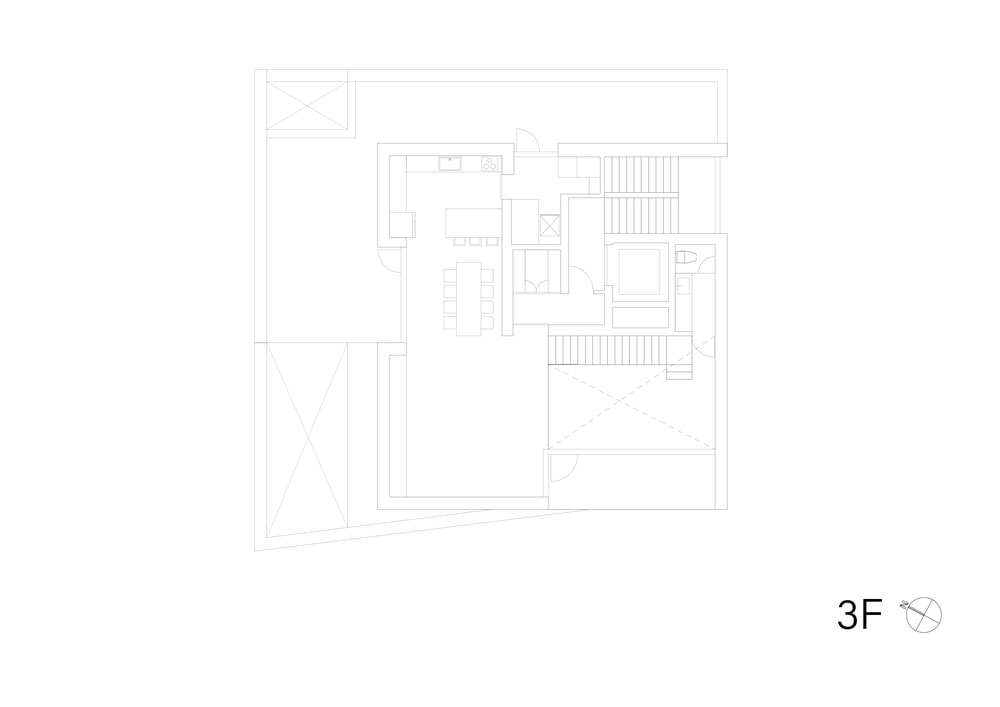 This is the illustration of the third level floor plan.