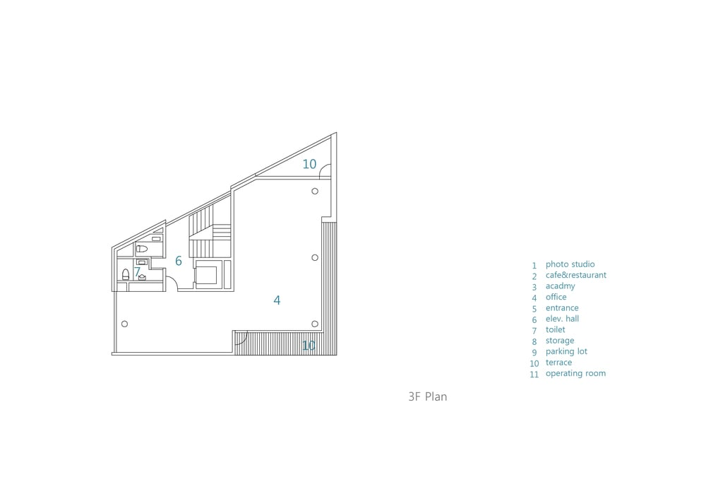This is an illustration of the house's third level floor plan.