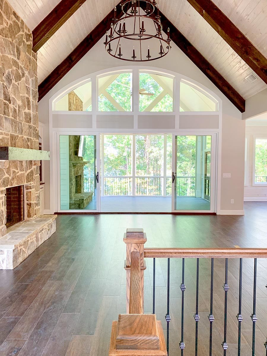 Clerestory windows at the back allow an abundant amount of natural light in.