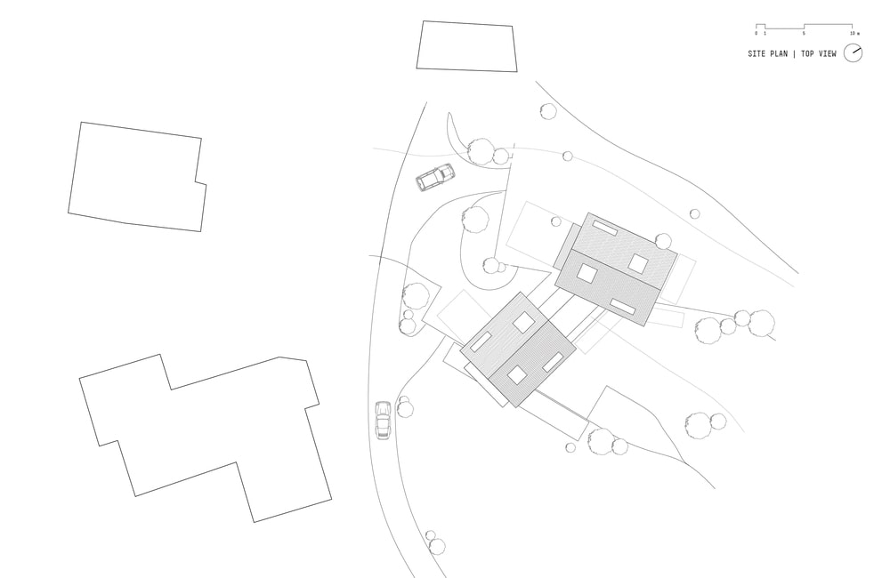 This is an illustration of the house's site map and position in the surrounding areas.