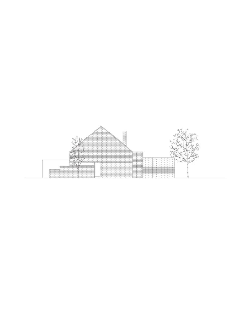 This is an illustration of the house's elevation showcasing the sections of the house.