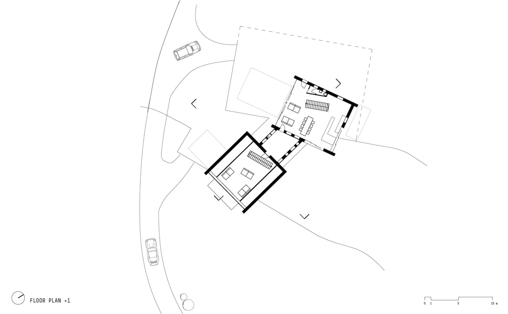 This is an illustration of the house's floor plan and sections of the house.