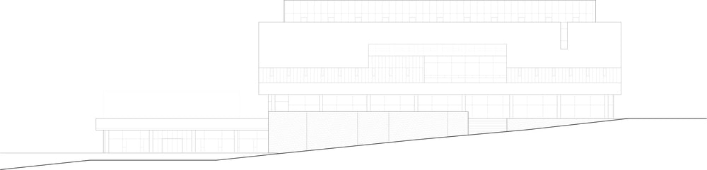 This is the illustration of the building's elevation featuring the various sections.