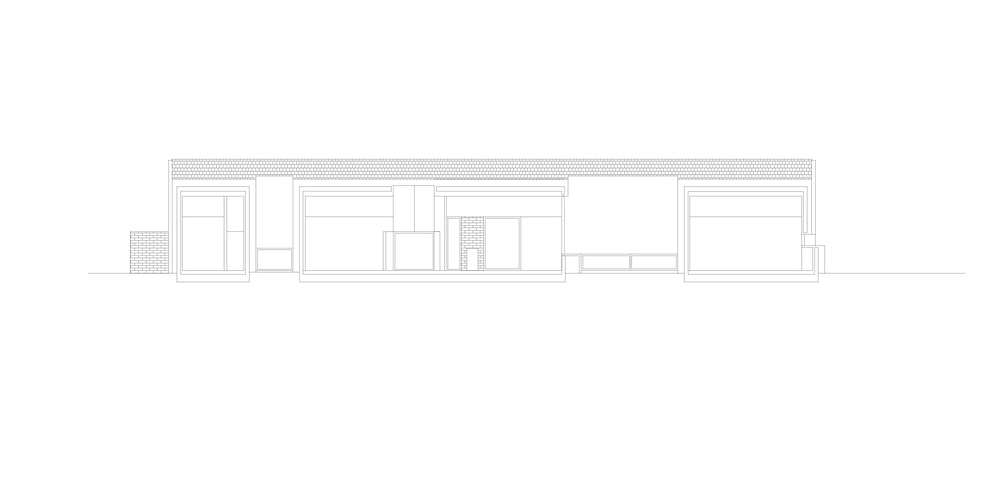 This is an illustration of the side section elevation of the house.