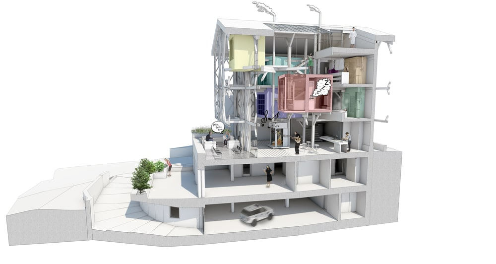 This is a 3D representation of the house's interior design and sections of the house.