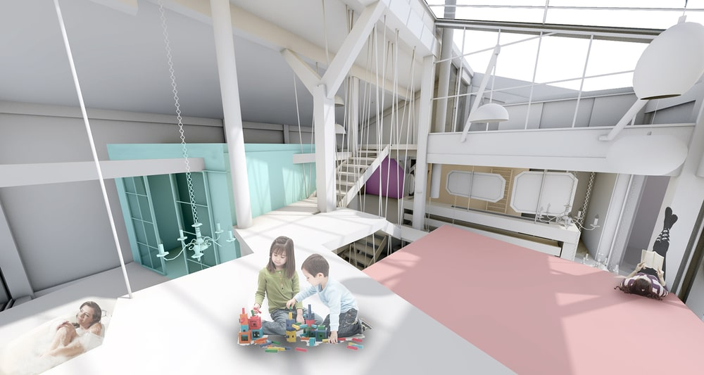 This is a 3D representation of the house's interior design.