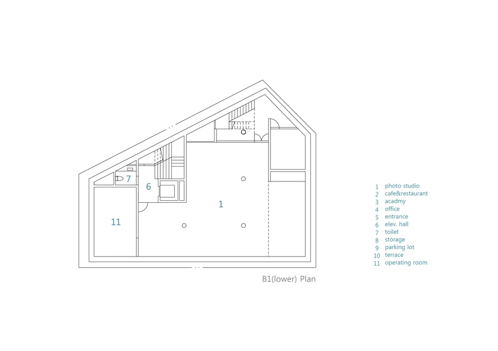 This is an illustration of the house's basement 1 level floor plan.
