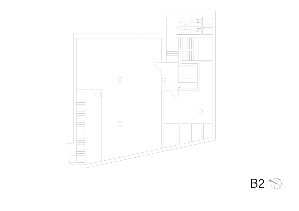 This is the illustration of the basement 2 level floor plan.