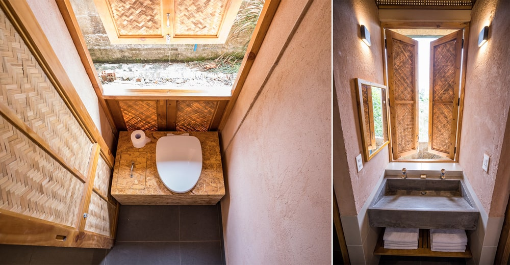 This is a close look at the private bathroom.