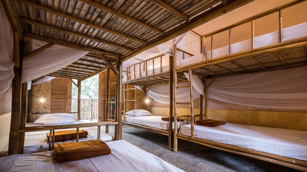 This is a view of the room from the vantage of the lower bunk.