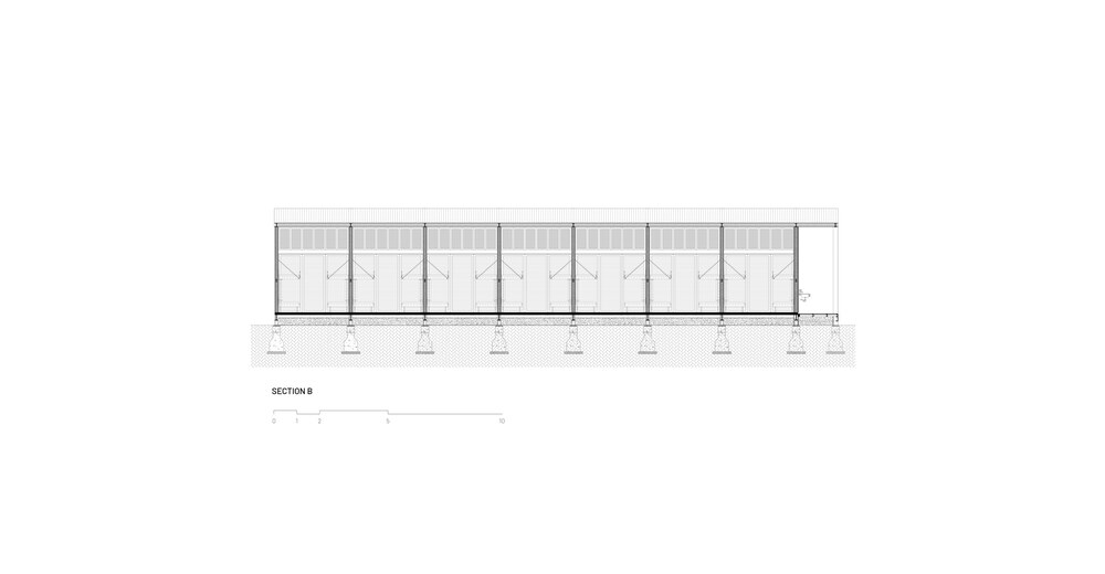 This is an illustration of the dormitory's cross section elevation.