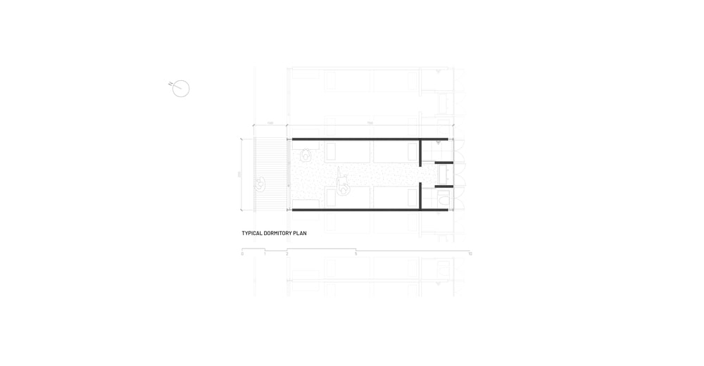 This is an illustration of the dormitory's floor plan.