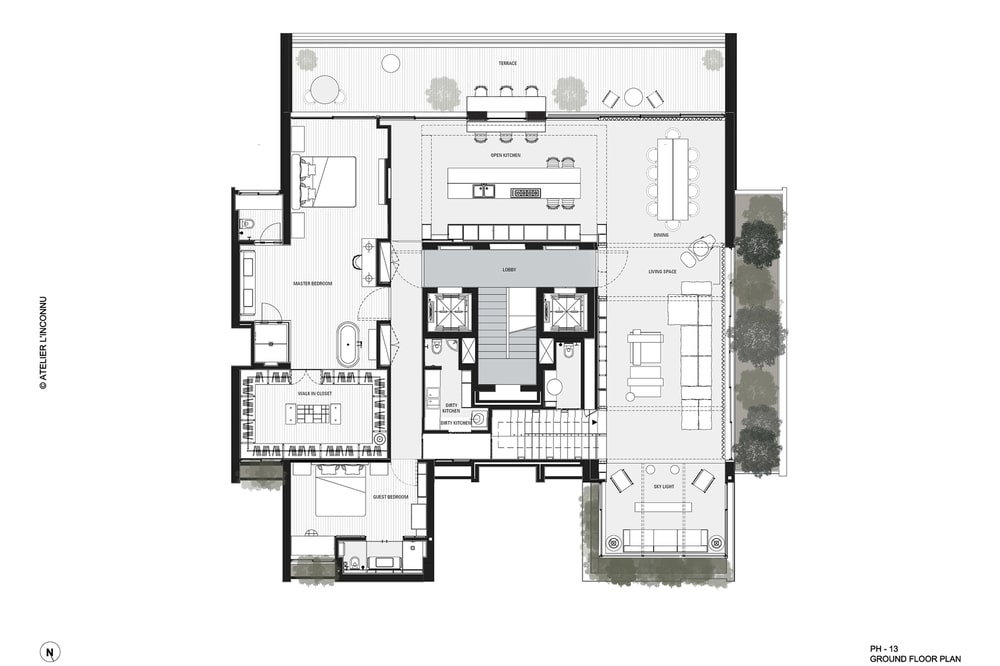 This is an illustration of the lower level floor plan.