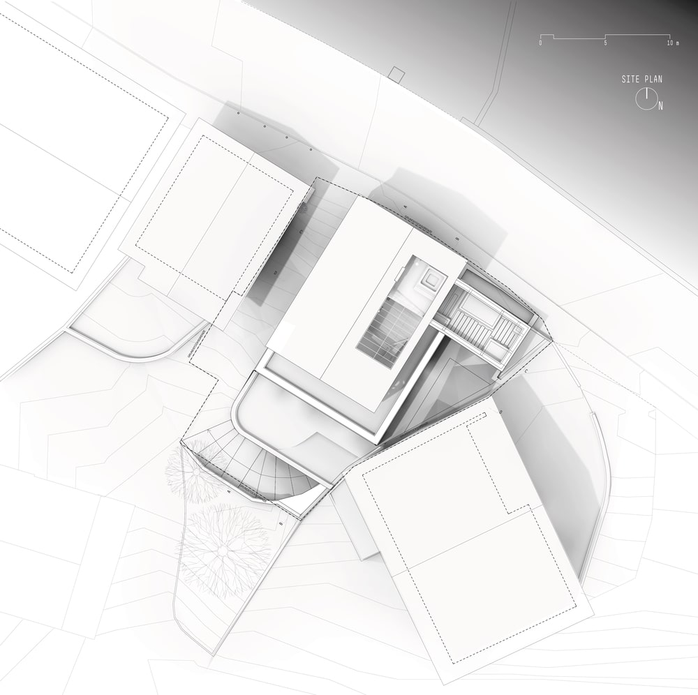This is an illustration of the house's site plan.