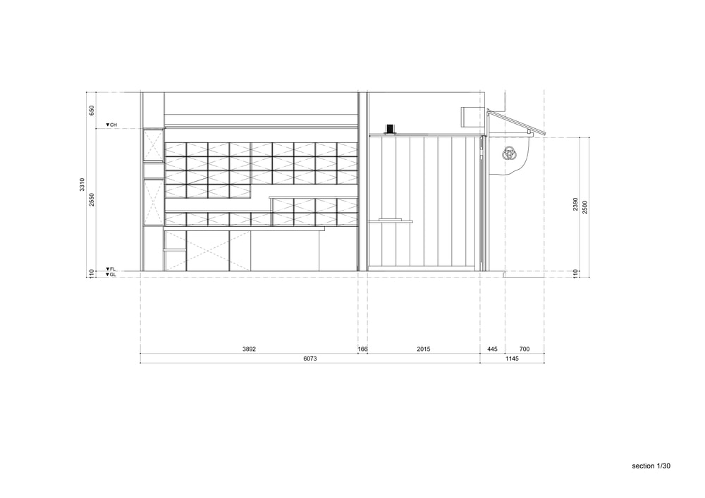 This is an illustration of the store's cross section elevation.