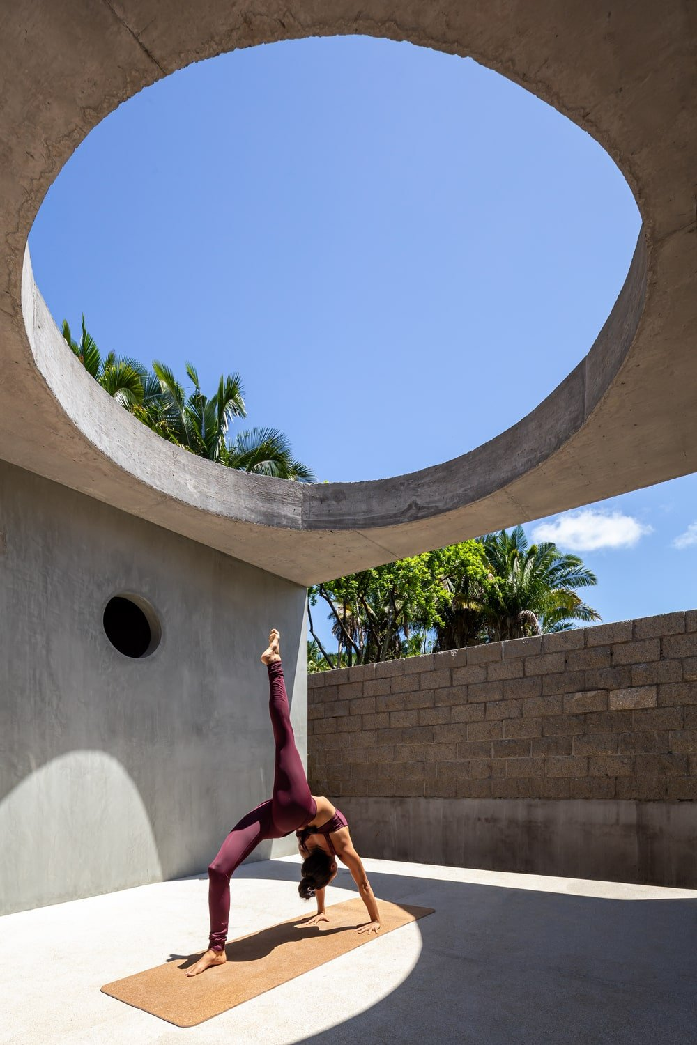 This area is perfect for yoga with an abundance of natural lighting.