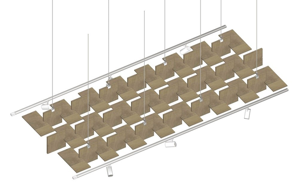 This is an illustration of the ceiling module panels.