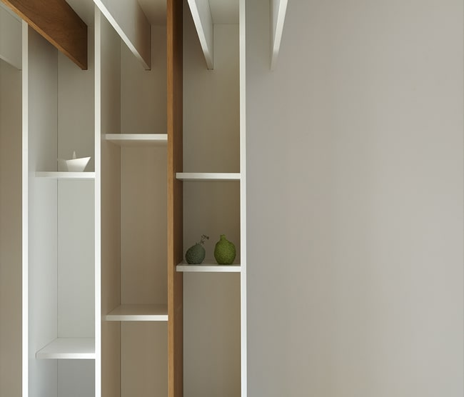 They have small and narrow shelves that can fit a few books at a time.