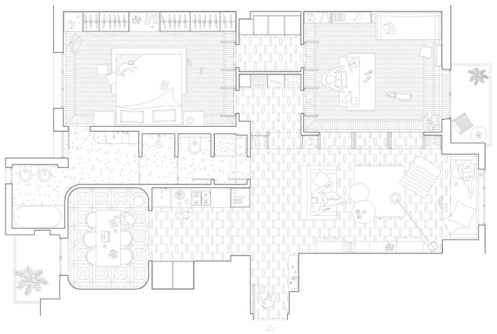 This is an illustration of the apartment's floor plan.