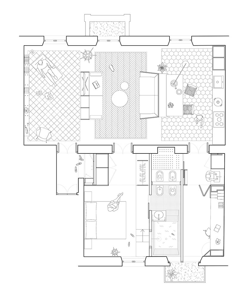 This is an illustration of the house's floor plan.