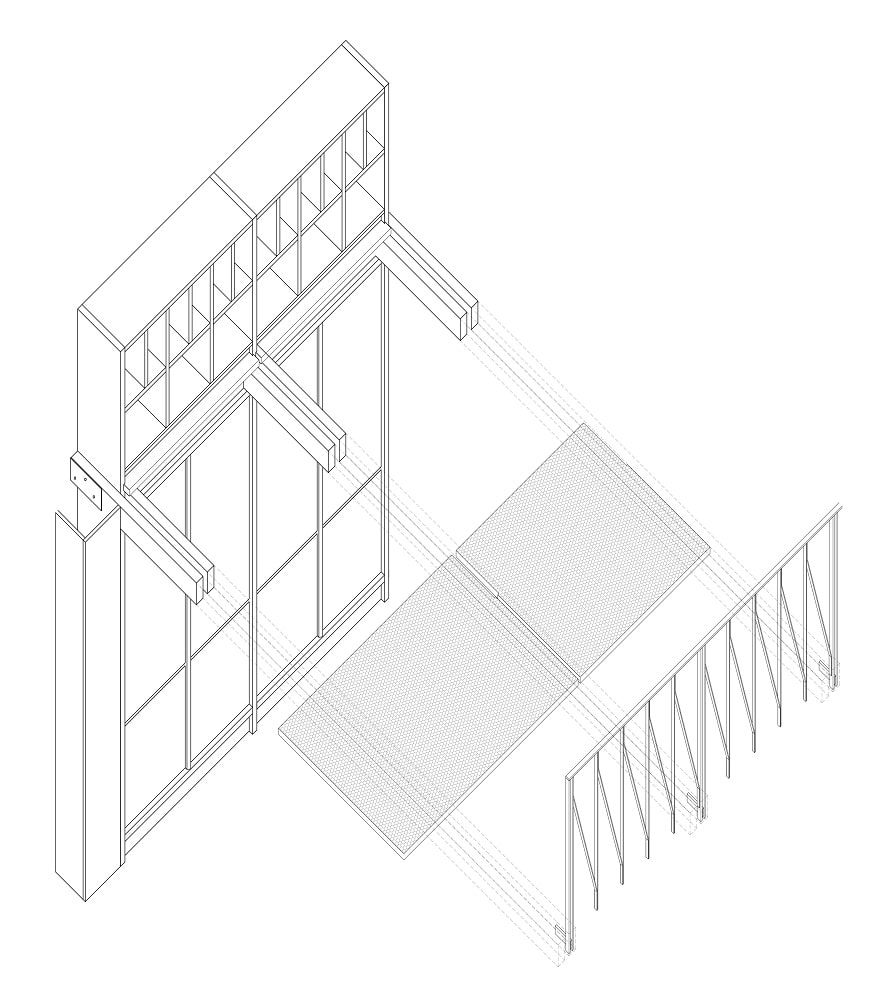 This is an illustrative perspective sketch of the structures inside the law firm.