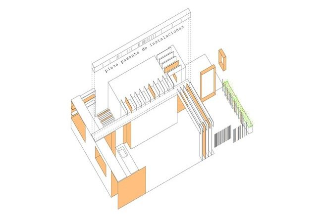 These are colorful illustrations of the house showcasing the perspective sketch floor plan.